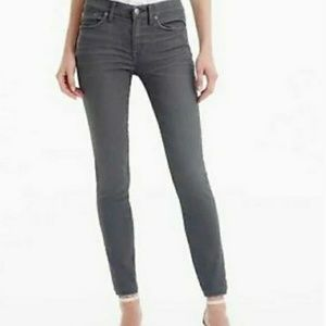 J. Crew Grey Gray Sateen Toothpick Pants Jeans 29